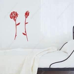 roses   removable vinyl art wall decals murals home decor Home