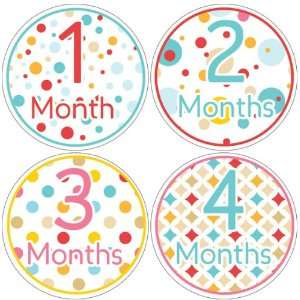 Polka Dots Baby Month Stickers for Bodysuit #14 Baby