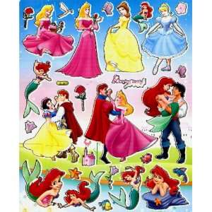 Charming STICKER SHEET BL085 ~ Ariel Prince Eric Little Mermaid ~ Snow
