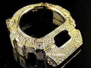 MENS G SHOCK/GSHOCK MENS WHITE DIAMOND GOLD COLOR METAL BEZEL 6900