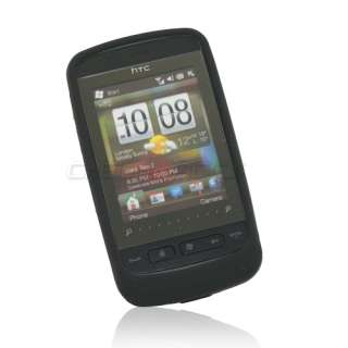 Black Silicone Skin Cover Case For HTC Touch 2 II T3333