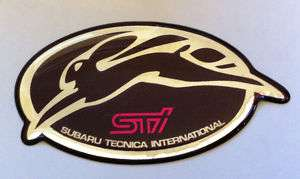 STI RABBIT HARE BADGE EMBLEM 4 GC8 WRX SUBARU GBD MY99