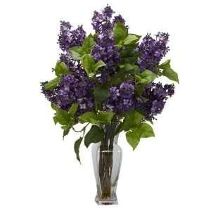 Purple Lilac Silk Flower Arrangement Home & Kitchen