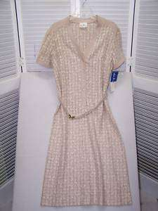 Vtg Leslie Pomer/Marshall Field shirt dress 16 NEW