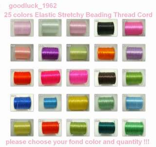 25 colors Charm crystal stretchy Elastic Jewelry Beading Thread Cord