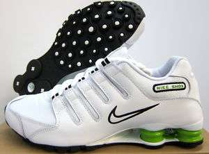 NEW MENS NIKE SHOX NZ RUNNING [378341 126] WHITE BLACK