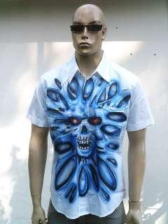 GHOST SKULL TOTENKOPF Rocker Tattoo Hemd Shirt g L 52
