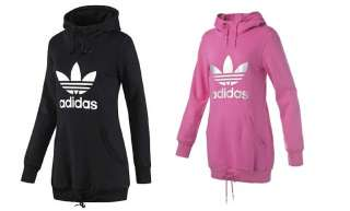adidas originals trefoil long logo hoodie langer damen. Black Bedroom Furniture Sets. Home Design Ideas