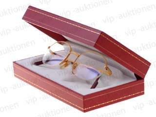 CARTIER BRILLE SONNENBRILLE HALF FRAME GOLD FINISH GLASSES OCCHIALI