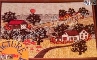 Bucilla COUNTRY AUTUMN Picture Perfect Crewel Stitchery Kit