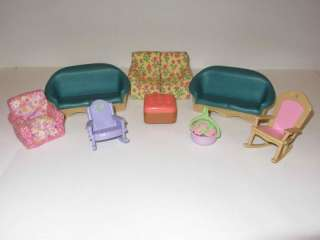 LOVING FAMILY Mini Van Moms Dads Kids Tree House Furniture