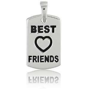 Black Best Friends w/Heart Charm Z 9040 Itâ?TMs Charming Jewelry
