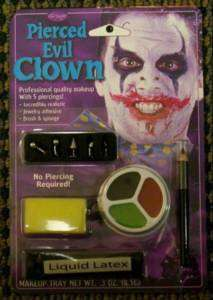 Pierced Evil Clown Vampire Devil Makeup Kit Costume NEW