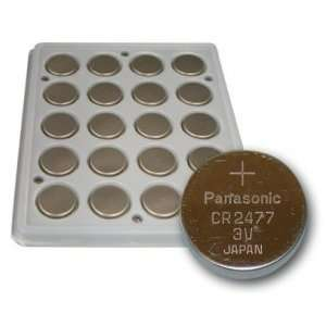 20 Pack Panasonic CR2477 Lithium 3V Coin Cell Batteries