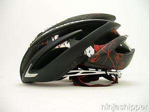2012 Giro Aeon Matte Black with Red Explosion Bicycle Helmet   Medium