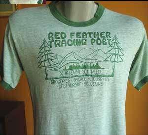 TRASHED Vtg 70s MESH RINGER GREEN CAMP T shirt LARGE