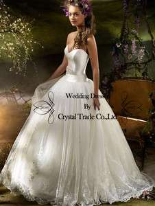 2012 Sweetheart Embroider Beaded wedding Bridal dress formal prom