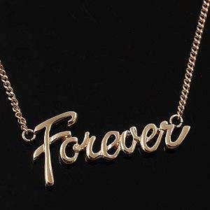 18K Rose Gold Plated FOREVER Letter Necklace 10921