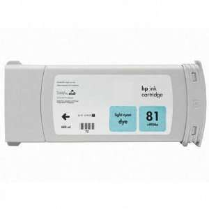 Refilled HP 81LC Ink   Light Cyan Electronics