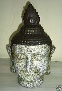 Oriental Asian Buddha Head Garden Art Quan Yin Buddha