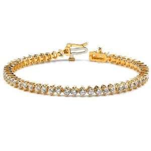14k Yellow Gold Diamond Tennis Bracelet   JewelryWeb Jewelry
