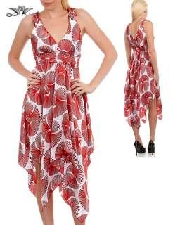 WOMANS PLUS SIZE RED & WHITE MAXI DRESS 1XL 14/16 NEW