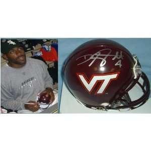 DeAngelo Hall (Virginia Tech Hokies) Signed Autographed Mini Helmet