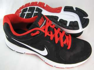 Nike Mens Air Relentless Black Red Walking Running Athletic Sneakers