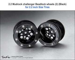 Mudrock CH Beadlock Black wheel AX10 F350 Crawler
