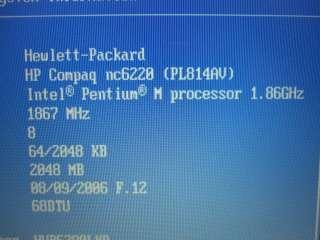 HP Compaq Business Notebook Nc6220 Laptop/Notebook 2gb RAM