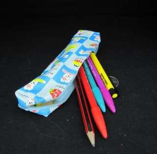 blue Cute cartoon Cosmetic / MakeUp Bag / Pencil Pen Case Pouch