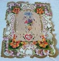 Large 8x10 Vintage 1920s Valentine w/Lace & Scraps