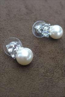 Pearl Necklace Set Silver Bridal Bridesmaid Jewelry