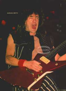 ADRIAN SMITH PINUP Iron Maiden 80s Heavy Metal Guitar