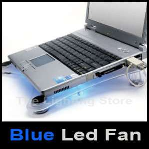 USB LAPTOP NOTEBOOK BLUE LED COOLING FAN PAD ASUS PC