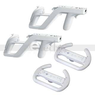Zapper Gun + 2* Steering Wheel for Nintendo Wii Game