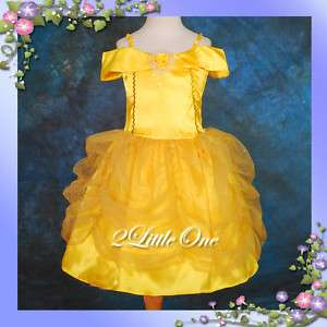 Girl Belle Princess Costume Party Fancy Dress Up 3T 9