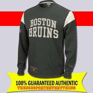BOSTON BRUINS RETRO SWEATER LS TEE VINTAGE CCM SHIRT S