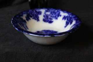 L313 ENGLISH VICTORIAN NEW WHARF POTTERY FLOW BLUE FLORAL OVAL SERVING