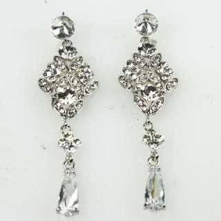 Style Swarovski Crystal Bridal Wedding Drop Chandelier Earrings