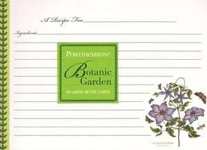 Recipe Cards Botanic Garden 5x7 Q13 8950 Portmeirion CR Gibson NEW