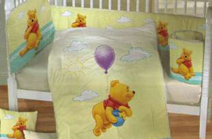NEW Disney Winnie Pooh Fly Crib Bedding Nursery Set 6