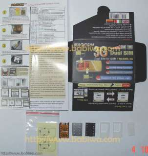 Card Adapter for universal 3G network HSPDA umts wcdma gsm gprs edge