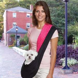 East Side Collection Sling Pet Dog Carrier Hot Pink