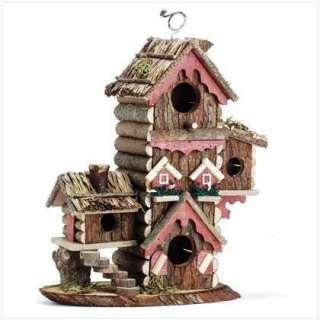 Wood Model Bird House Buildings Perch Animal Shelter Tree Yard Art