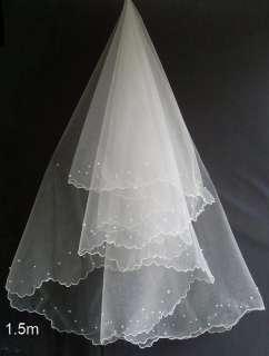ivory lace/organza Empire line wedding bridal dress gown custom