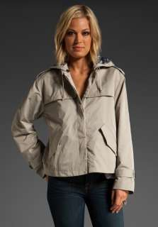 MARC BY MARC JACOBS Juliette Rain Jacket in Reed Khaki at Revolve