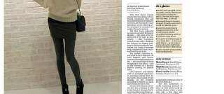 Korea Women Ladies Girls Faux Twinset Skirt Leggings Pants Trousers