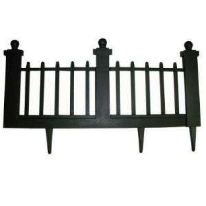 Emsco 12 In. Resin Colonial Garden Fence (10 Pack) 2096HD at The Home