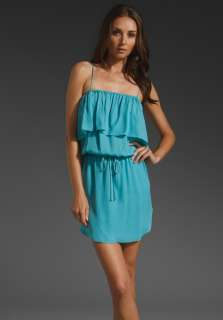 HAUTE HIPPIE Ruffle Top Dress in Honeydew